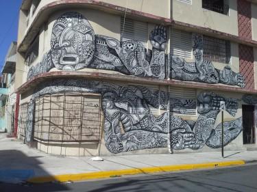 Otro mural interesantísimo en la Calle Cerra.