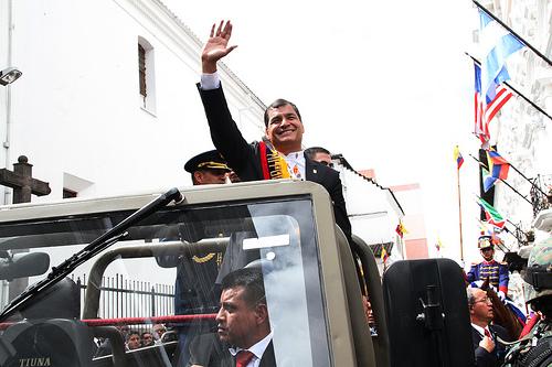 Posesión de mando del presidente Rafael Correa. Quito, Ecuador, 24 mayo de 2013. Foto de  Presidencia de la República del Ecuador en Flickr. (CC BY-NC-SA 2.0)