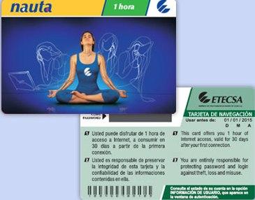Tarjeta Nauta para el acceso a Internet. (Foto: Cubadebate)