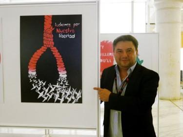 oaquín Martínez en el V Congreso Mundial contra la Pena de Muerte.