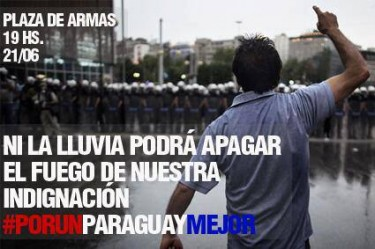 Flyer que apareció publicado en el fanpage de Anonymous Paraguay