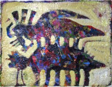 Obra del artista puertorriqueño Rubén Rivera hecha sobre una hoja creada por Aydasara.
