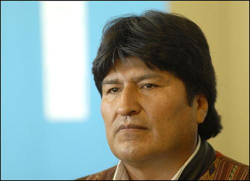 Evo Morales. Foto de usuario de Flickr Alain Bachellier (CC BY-NC-ND 2.0)