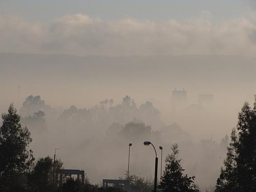 Contaminación en Temuco. Foto de Carlos Riquelme en Flickr (CC BY-NC-SA 2.0)