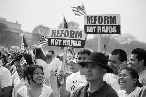 Manifestación a favor de la reforma inmigratoria. Foto de Anuska Sampedro (CC BY-NC-ND 2.0)
