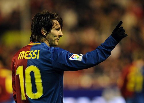 Leonel Messi. Foto del usuario de Flick (CC