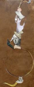 """""""Quem observa o mar fixamente já está navegando um pouco"""". Obra de Aydasara appearing on the home page of Café de la Pensée"""