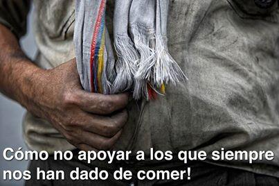 Cómo no apoyar a los que siempre nos han dado de comer - Imagen por LIliana Castro Morato en Facebook