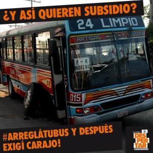 Flyer pubicado por el Movimiento Despertar Ciudadano en repudio a los transportistas