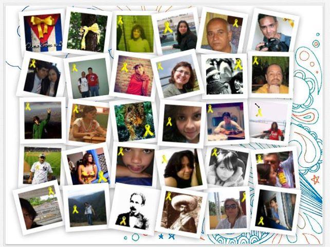 Perfil de Facebook de usuarios solidarios con la causa de Los Cinco