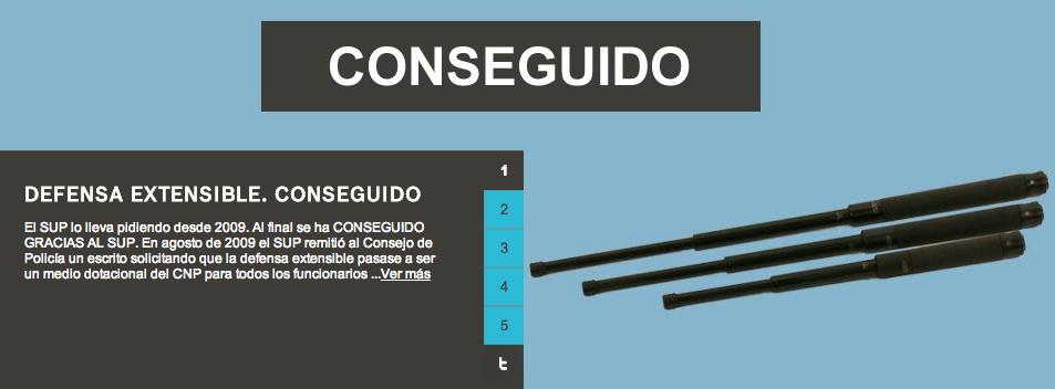 Tomado de la página web del Sindicato de la Policía de España.