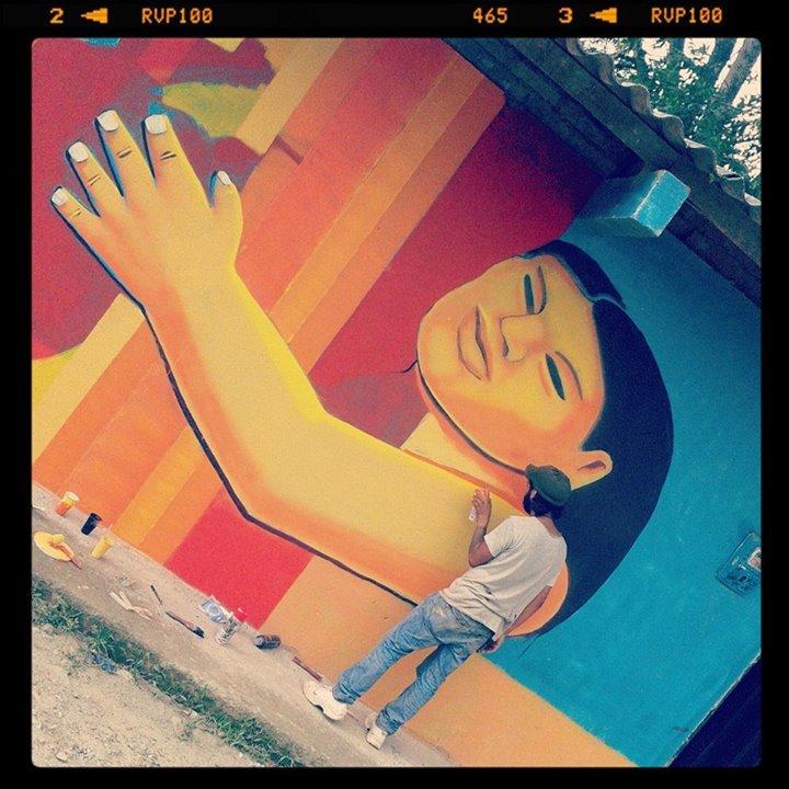 El aporte de 'Somos Muiscas'. Foto compartida por Minga de Muralistas de los Pueblos en Instagram.
