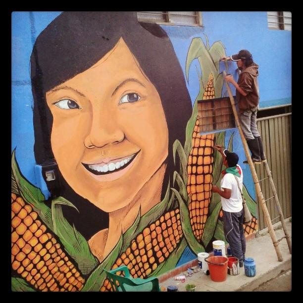 Casa del Movimiento Juvenil 'Alvaro Ulcué'. Foto compartida por Minga de Muralistas de los Pueblos en Instagram.