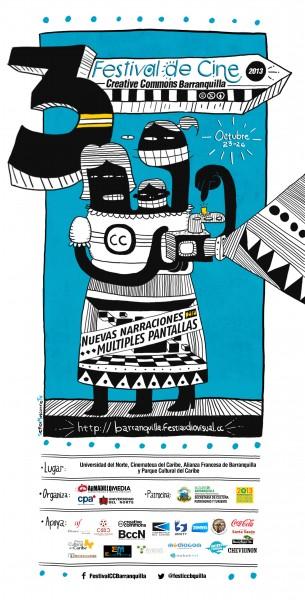FCC13 - Afiche Festival Creative Commons Barranquilla