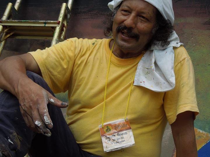 Jafeth Gómez - Colectivo Cultural Wipala. Foto compartida por Minga de Muralistas de los Pueblos en Facebook.