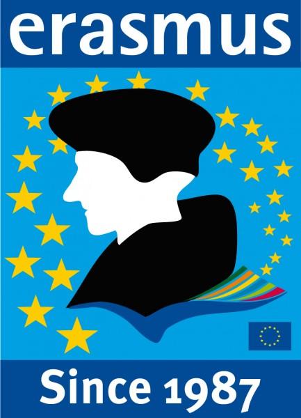 Logo del programa Erasmus. Imagen de la web de la Comisión Europea, utilizada con su autorización.