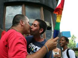 Kiss-In for Diversity and Equality in Havana, Cuba. (Photo courtesy of Jorge Luis Baños.)