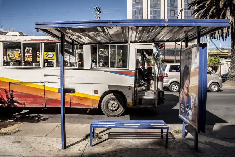 Un bus del transporte público en Cochabamba – Bolivia. Fotografía: Mijhail F. Calle Ruiz