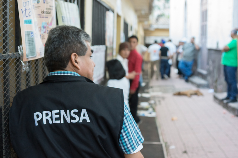 Prensa en Tegucigalpa, Honduras. Foto de Carlos R. Ordoñez. Copyright Demotix.