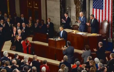 President Barak Obama giving his fifth State of the Union address. Many criticized its lack of depth regarding the immigration system.  Image taken from YouTube.