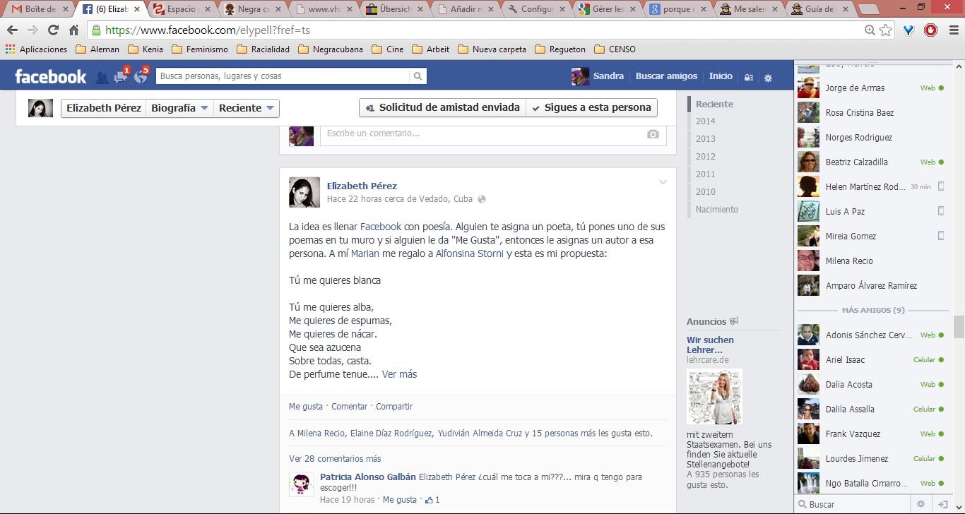 Elizabeth Pérez_Juan Gelman Facebook Cuba