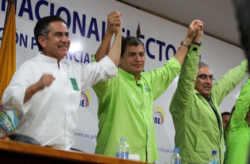 20 de noviembre, 2013. El Movimiento Alianza Pais inscribió los nombres de sus candidadtos para las elecciones seccionales del 2014. Foto: Micaela Ayala V./Andes en Flickr, bajo licencia Creative Commons  (CC BY-NC-SA 2.0)
