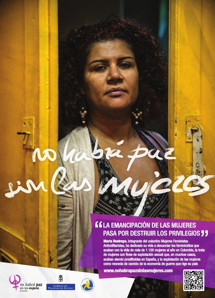 Feminista e investigadora integrante de Mujeres Feministas Antimilitaristas (Foto: Alex Zapico)