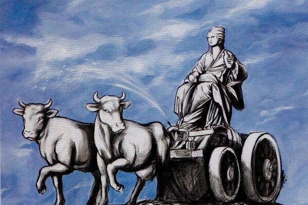 El cuadro «Cibeles láctea», protagonista de una insólita desaparición. Imagen subida a Twitter por el usuario Aquí No Hay Playa