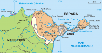 Map of the border zone between Morocco and Spain - Wikipedia