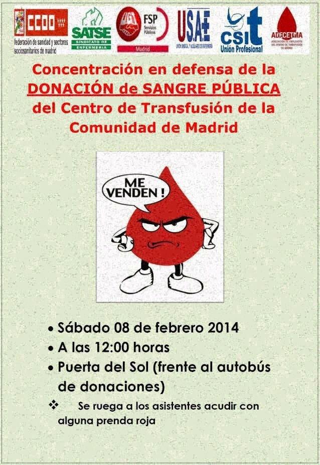 Convocatoria de la concentración del 8 de febrero. Imagen de la web de la Mesa en Defensa de la Sanidad Pública de Madrid