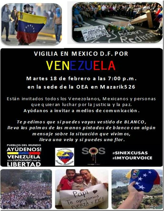 Vigil, Tuesday February 18th