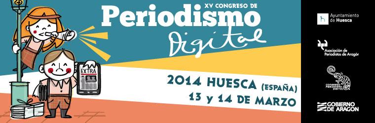 Cartel anunciador del XV Congreso de Periodismo Digital. Imagen de la página web del Congreso