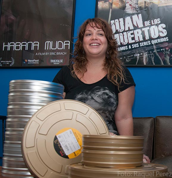 Claudia Calviño, productora independiente en Cuba (Foto: Raquel Pérez)