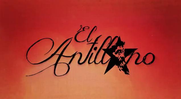 Pantalla de título del documental El Antillano. Imagen tomada de video.