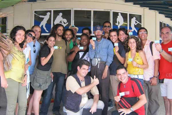 """Grupo de tuiteros en el primer """"Twitthab"""", La Habana, Cubana. Foto cortesía de Elaine Díaz."""