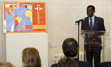 Conferencia de Obiang en el Instituto Cervantes