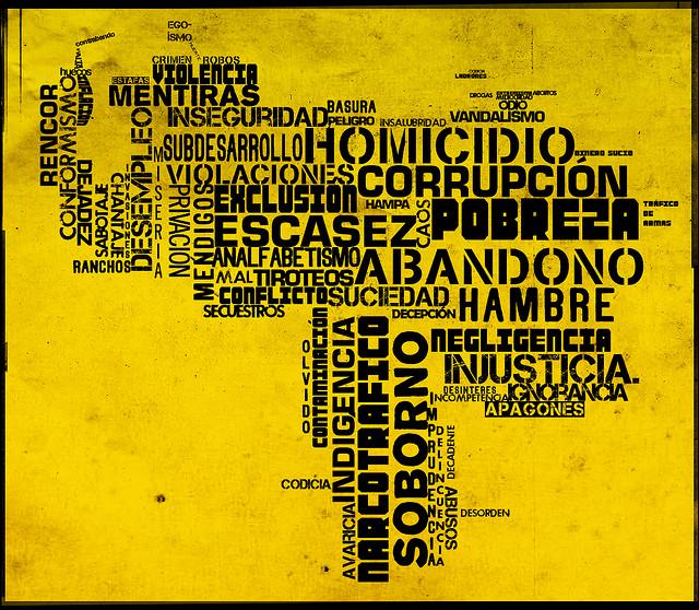 """""""El mapa que no queremos ver"""". Imagen del usuario Juan Carlos Aristimuño en Flickr. Usada bajo licencia  Atribución-SinDerivadas 2.0 Genérica (CC BY-ND 2.0)."""