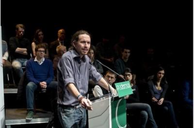 Mítin de Pablo Iglesias, líder de Podemos, en Madrid- Imagen de Diagonal
