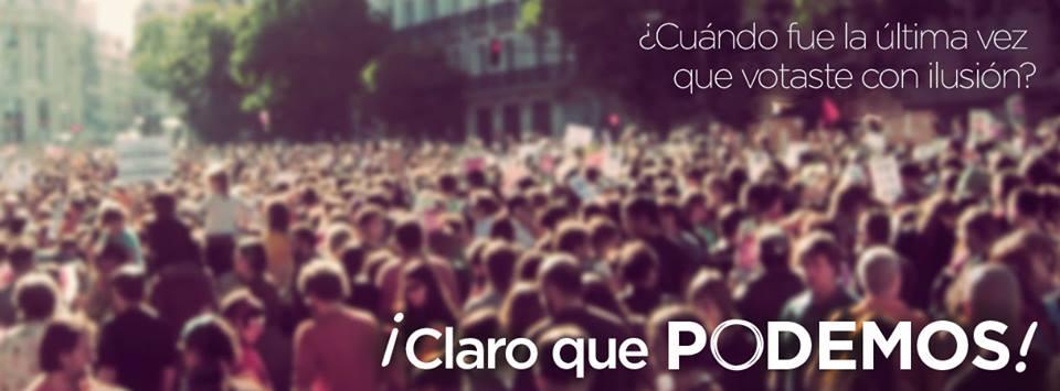 """Imagen tomada de la cuenta de Facebook de """"Podemos""""."""