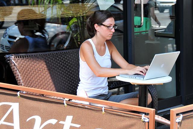 mujer blogger
