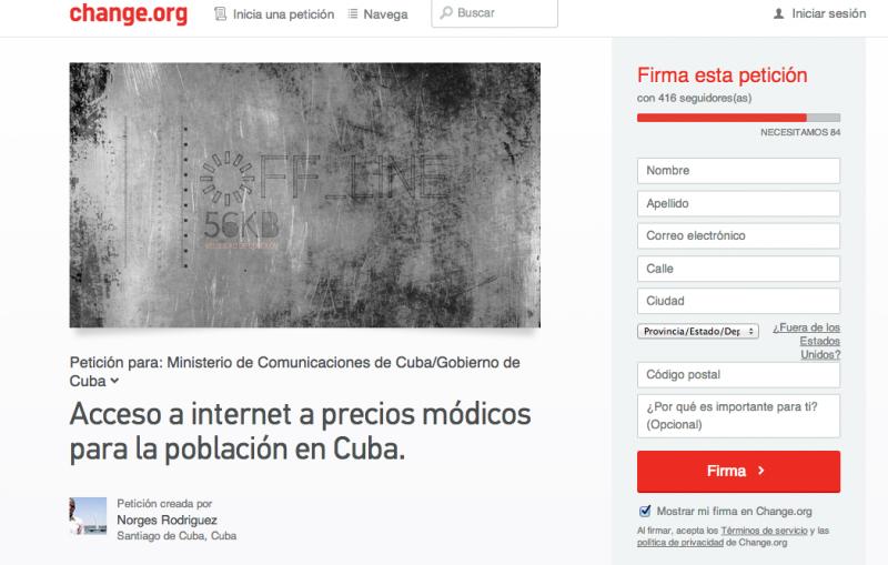 petición para bajar costos de internet en Cuba