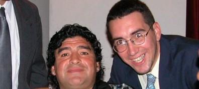 Charly Morales y Diego Armando Maradona (Foto cortesía de Charly Morales)