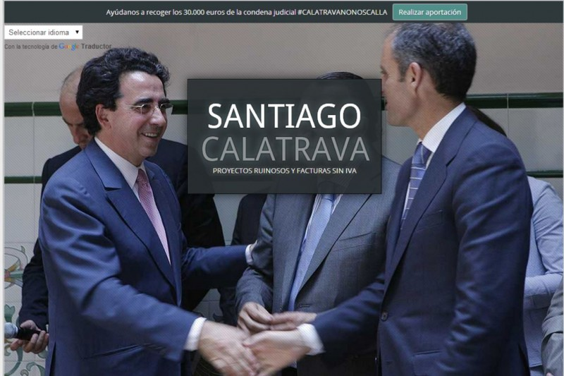 Página de inicio de la web calatravanonoscalla.com