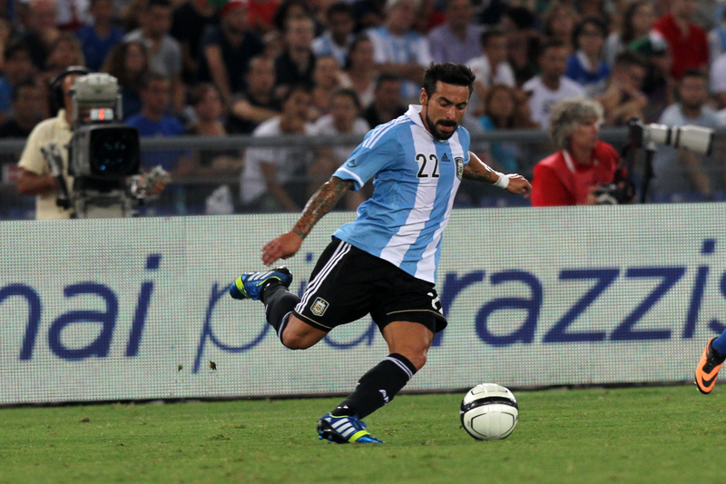 Second half of friendly match between Italy and Argentina