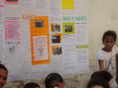 Periódico mural realizado en el Barrios los Erasos y Santa Rosa
