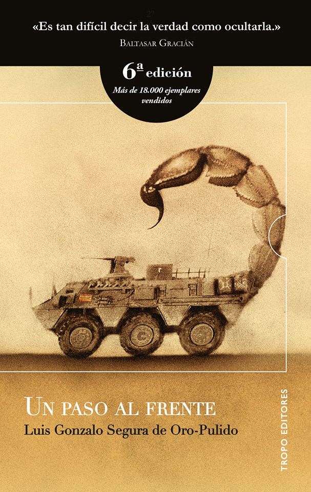 Portada de la 6ª edición del libro. Foto de la página de «Un paso al frente» en Facebook