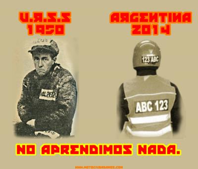 Imagen que muestra con ironía el marcado de motociclistas. Fuente: Motociudadanos