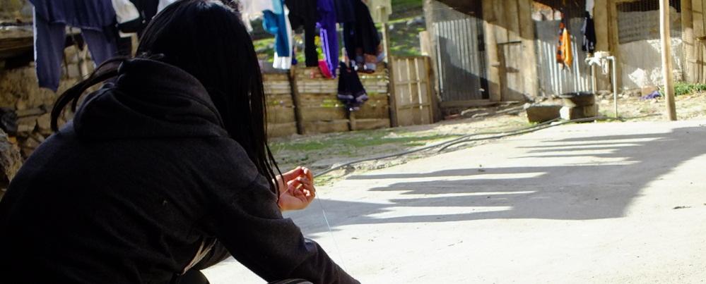 La prima de Nohemí, Leonela, quién se quedó sin su compañera de juegos. Foto: Daniela Aguilar.