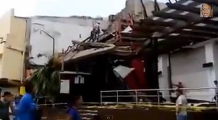 Estragos de Odile en San José del Cabo. Captura de pantalla de video publicado en YouTube.