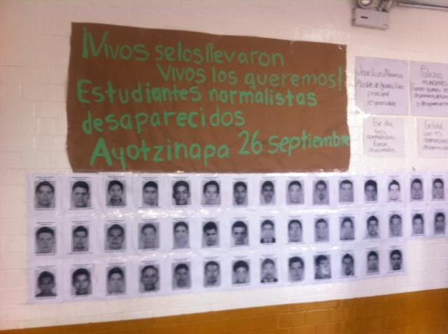 Ayotzinapa en la UNAM 1 foto TRC